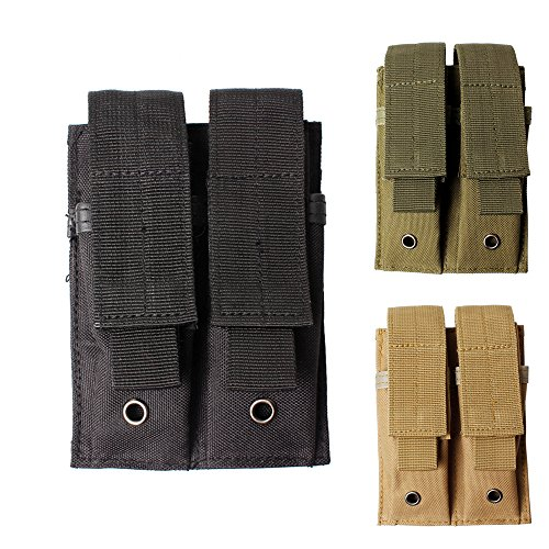 Double Magazine Pouch 1PC Pistol Magazine Mag Pouch for Ruger 22 Mk1 Mk2 Mk3 Browning Buckmark & Similar-H54 (black) (22 Pistols Mag)