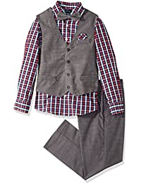 Boys' Set with Vest, Pant, Shirt, and Bow Tie