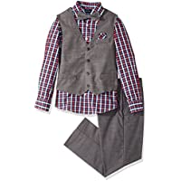 Nautica Boys' Set with Vest, Pant, Shirt, and Bow Tie