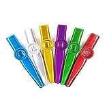 Fartime 18Pcs Metal Kazoos With 20Pcs Kazoo Flute