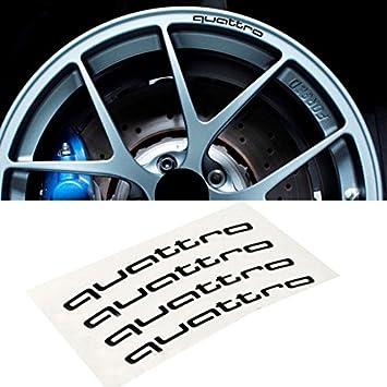 Appson 4 pcs aleación rueda negro Quattro adhesivos pegatinas logotipo para Audi A3 A4 Q7 Q5 S134: Amazon.es: Coche y moto