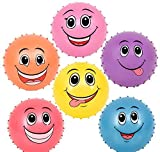 6'' FUNNY FACE KNOBBY BALLS, Case of 2