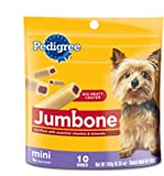 Pedigree Jumbone Mini Snack Food for Toy/Small Dogs, 10-Count Bones (Pack of 12), My Pet Supplies