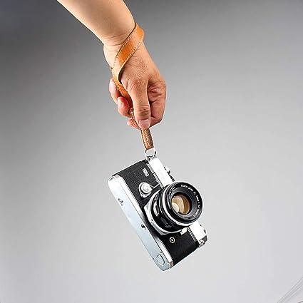 CANPIS - Correa de Piel para cámara réflex Canon Nikon Fuji Micro ...
