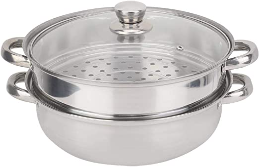 """11/"""" Boiler Soup Pot 2-Layer Fast Steaming Stainless Steel  Thicken Steamer"""