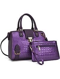 38d0d96994 Women Barrel Handbags Purses Fashion Satchel Bags Top Handle Shoulder Bags  Vegan Leather Tote Bags