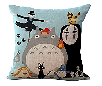 spirited away my neighbor totoro family kids cartoon massager pillows case cover vintage massage sofa car