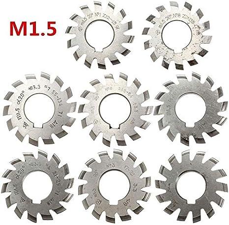 M1.25 20 PA #5 Bevel Involute Gear Cutter HSS Module 1.25 Cutting Range 26-34 T