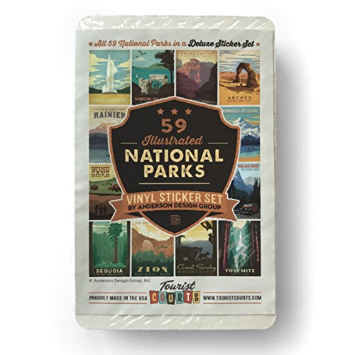 59-Piece Deluxe National Parks Sticker Set (Set Trailer Sticker)