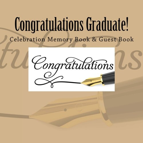 Congratulations Graduate Celebration Memory Book Guest Book