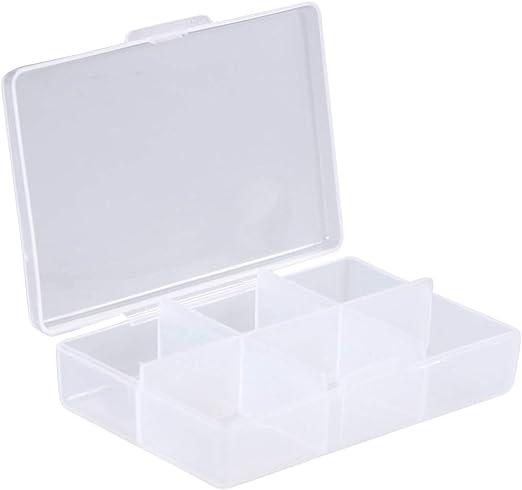SUPVOX Caja con 6 Rejillas de Plástico Transparentes para ...