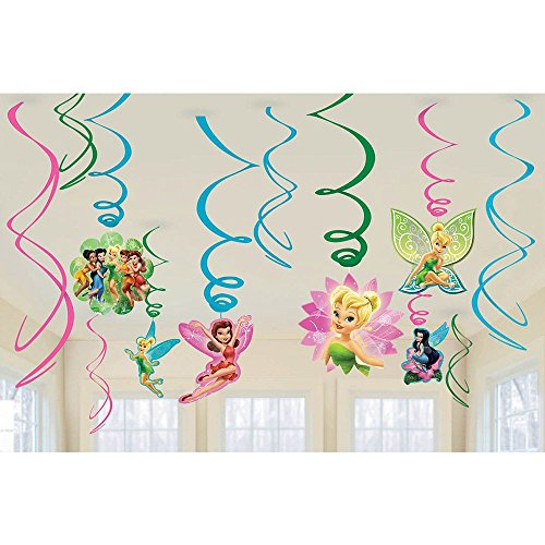 Tinkerbell Decorations (Tinker Bell & Fairies Swirl Decorations 12ct [Toy] [Toy])