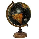 13 Decorative Rotating Black Ocean Globe World Earth Table Decor Geography