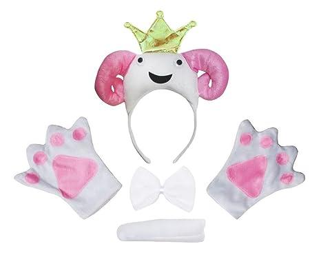 Petitebelle Guantes de cola ovejas 3D princesa diadema Bowtie ...