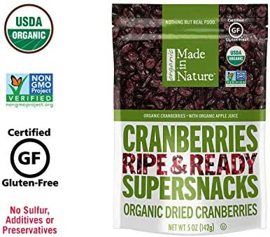 Dried Fruit & Raisins: Made in Nature Cranberries