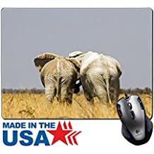 """MSD Natural Rubber Mouse Pad/Mat with Stitched Edges 9.8"""" x 7.9"""" Two female friends reunited 36373606 Customized Desktop Laptop Gaming Mouse Pad"""