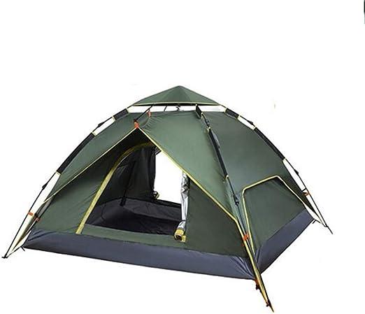 AOKASIX Tienda De Cúpula Tienda De Campaña Emergente Automática Tiendas Camping 3-4 Personas Impermeable Protección UV Acampar En La Playa Senderismo (240 * 210 * 135CM),Verde: Amazon.es: Hogar