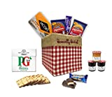The Great British Gift Box by The Yummy Palette | PG tips tea bags Jacob's crackers Digestives Cadbury Dairy Milk Jaffa Cakes in Basically British Gift Box