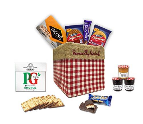 Cream Tea Hamper - The Great British Gift Box by The Yummy Palette   PG tips tea bags Jacob's crackers Digestives Cadbury Dairy Milk Jaffa Cakes in Basically British Gift Box