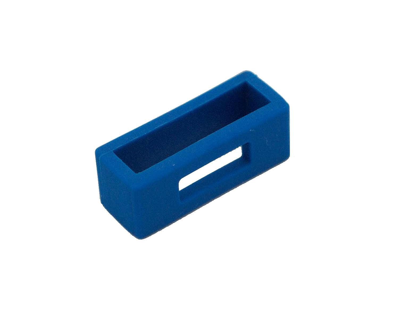 loop0007 – 2 1 xプラスチックの交換ブルー時計バンドループKeeper 24ミリメートル  B0791NCPCP