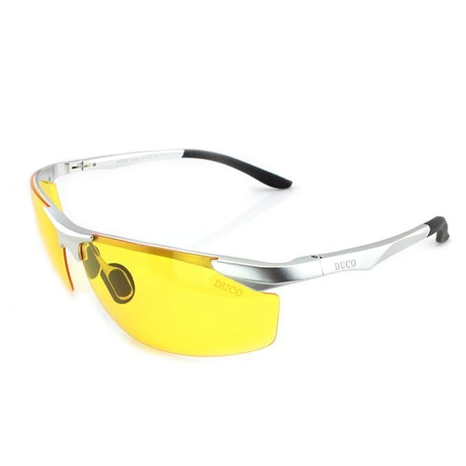 2ad616a38c32 Duco Night-vision Glasses Anti-glare Driving Eyewear AL-MG Frame Polarized  Lens