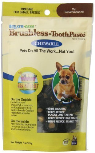 Brushless Toothpaste Chewable (ARK Naturals Products for Petsbreath-less Chewable Brushless Toothpaste, Mini by Ark Lighting)