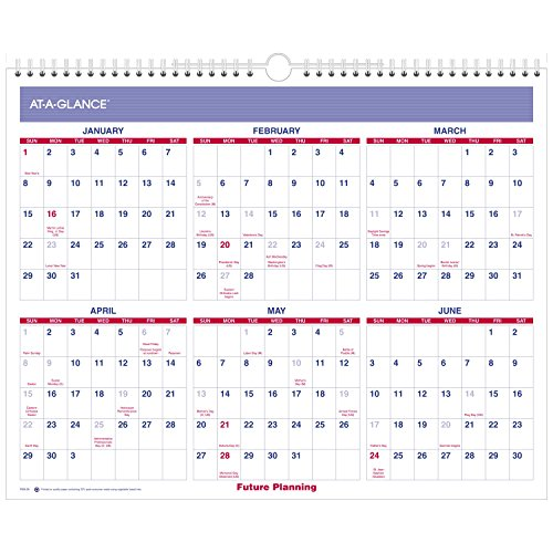 AT-A-GLANCE Wall Calendar 2017, Monthly, 14-7/8 x 11-7/8