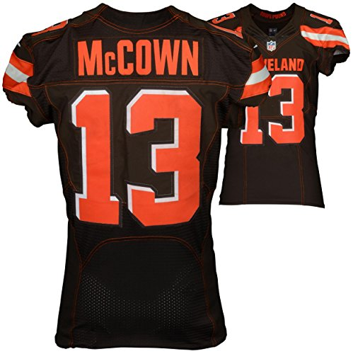 September 13, 2015 New York Jets vs. Cleveland Browns Josh McCown Game-Used Brown #13 Jersey (NFL Team COA)