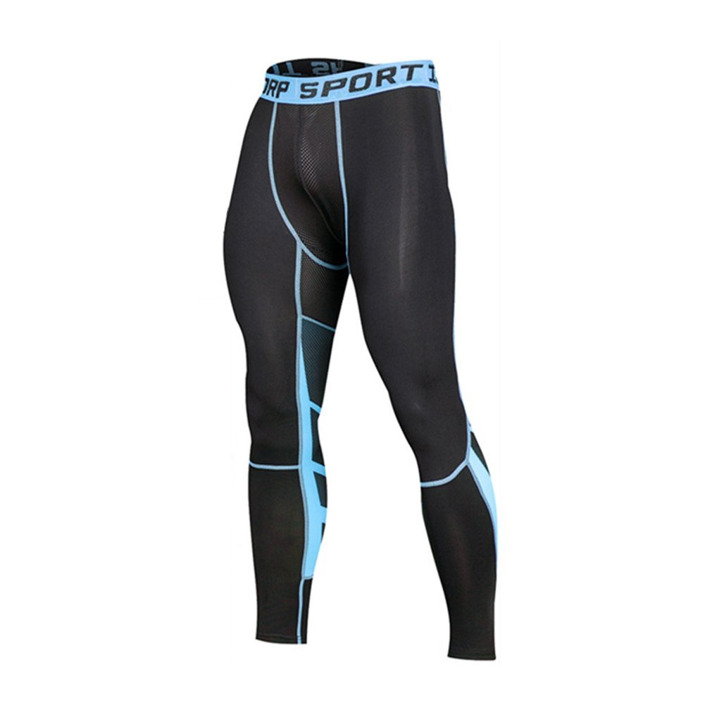 Honey Bee Global Men's Sports Compression Tights Cool DRY Running Leggings Gym Traning Workout Pants SM007