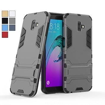COOVY® Funda para Samsung Galaxy J6 + Plus SM-J610FN / SM-J610G/DS (Model 2018) de plástico y Silicona TPU, extrafuerte, con protección contra Golpes, ...