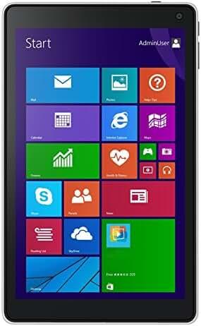 2017 NuVision 8-Inch Full HD IPS 1920 x 1200 Touchscreen Tablet PC, Intel Atom Z3735F Quad-Core Processor, 2GB RAM, 32GB eMMC SSD, Webcam, WIFI, Windows 10, Silver