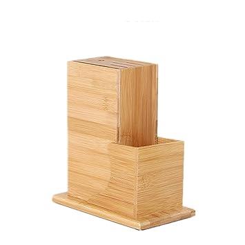 Kentop Universal Messerblock Aus Bambus Messerhalter Fur Eine