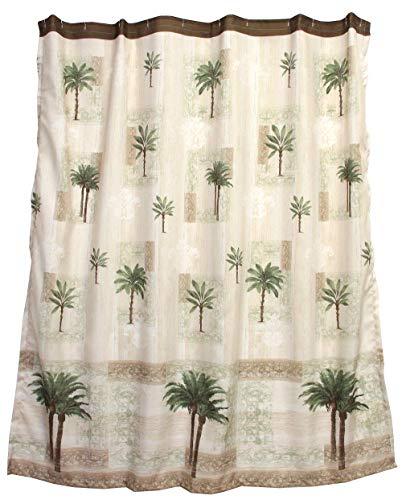 Bacova Guild Citrus Palm Fabric Shower Curtain, Beige/Green