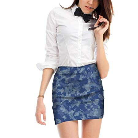 YUNGYE Camuflaje Minifalda impresión de Las Mujeres de Cintura ...