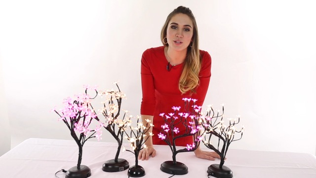 LIGHTSHARE 16Inch 36LED Cherry Blossom Bonsai Light, Warm White,Battery Powered and Plug-in DC Adapter (Included),Built… 7