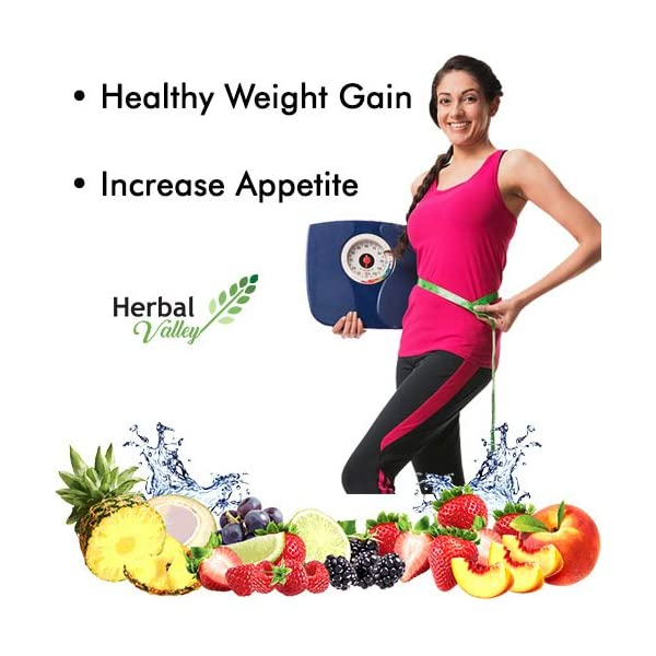 HerbalValley Super Weight Gain Natural Capsules for Men and Women, 60 Caps - Pack of 1 2021 July Increase appetite Helps in digestion and hunger Helps in weight gain