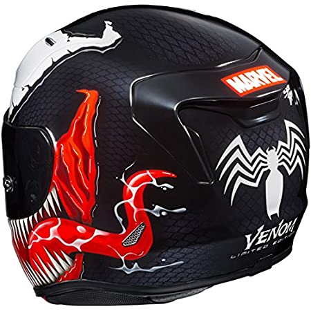 Amazon.com: HJC Helmets Marvel Unisex-Adult Full-Face Helmet (Black/Red/White, Medium) (RPHA-11 Pro Venom MC-1): Automotive