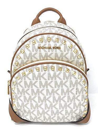Michael Michael Kors Abbey Medium Frame Out Signature Studded Backpack - Mk Frames