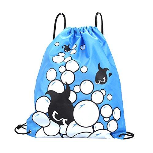 巾着バッグ巾着バックパック – 3442 CMダブルレイヤドローストリング防水バックパックカラフルショルダーバッグ水泳バッグのアウトドアスポーツea14 – 文字列バックパック B074QH86BL J J