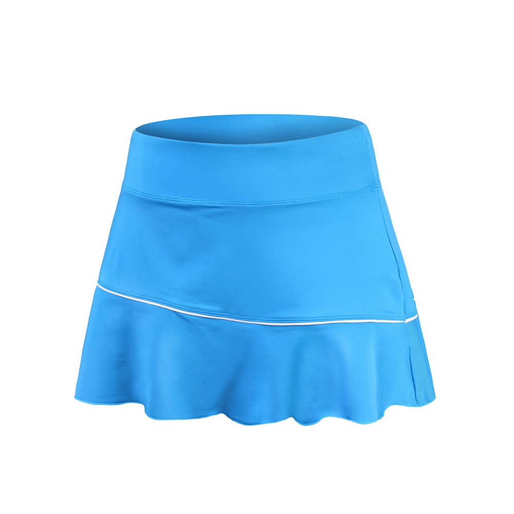 32e-SANERYI Women's CoolDry High Elastic Tennis Skirt with Shorts (sk21,S,Sky Blue)