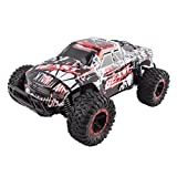 Beast Slayer Turbo Removable Body Remote Control RC Buggy Car Truck Large 1:16 Scale Size RTR w/ Working Suspension, High Speed, Radio Control Off-Road Hobby Truggy Rechargeable(Red)