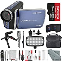Bell & Howell Blue DV30HD 1080p HD Video Camera Camcorder + Deluxe Accessory Bundle + Professional 8 Pc Cleaning Kit