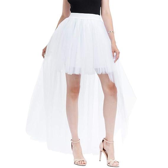Amazon.com: NREALY Skirt Womens Solid Mesh Tulle Skirt Princess Skirt Mesh Bubble Skirt Party Skirt(one, Black): Clothing