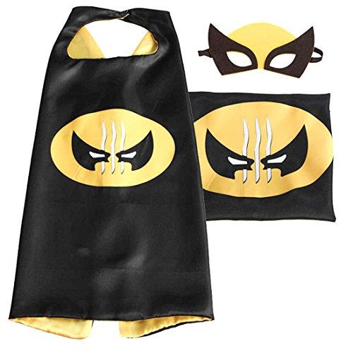 [(Wolverine) ROXX Superhero Superman Kids Girl And Boy Cape and Mask Costume for Child] (Girl Superhero)