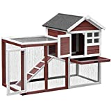 Merax Rabbit Hutch Indoor and Outdoor Bunny Cage