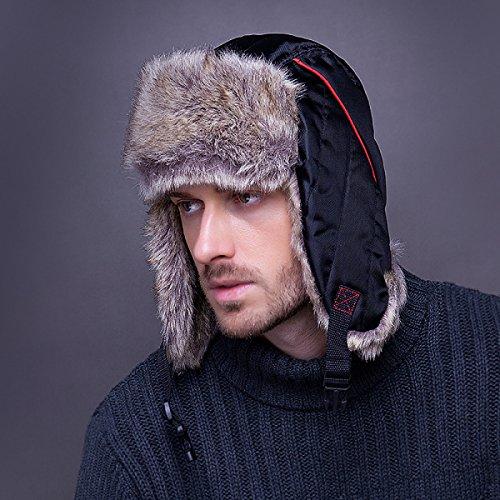 A Winter Sombreros Trooper Warm Flap Bomber Para De Hat Ski Viento Unisex gris Hombre Hat Prueba Ear Máscara wR81U