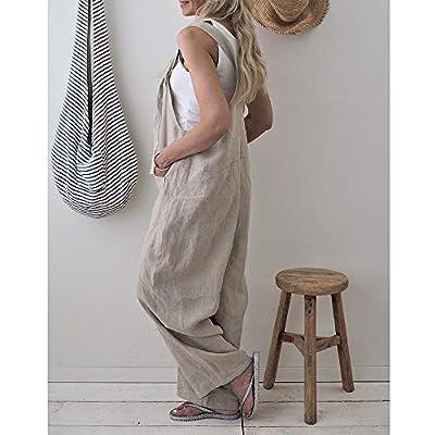 Top-Vigor Women's Casual Loose Suspender Trousers Baggy Wide Leg Overalls Jumpsuit Romper Harem Pants Plus Size