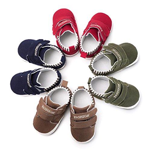 IGEMY Kleinkind Mädchen Jungen Einfarbig weiche Sohle Anti Rutsch Turnschuhe, Leinwand Krippe Schuhe Navy