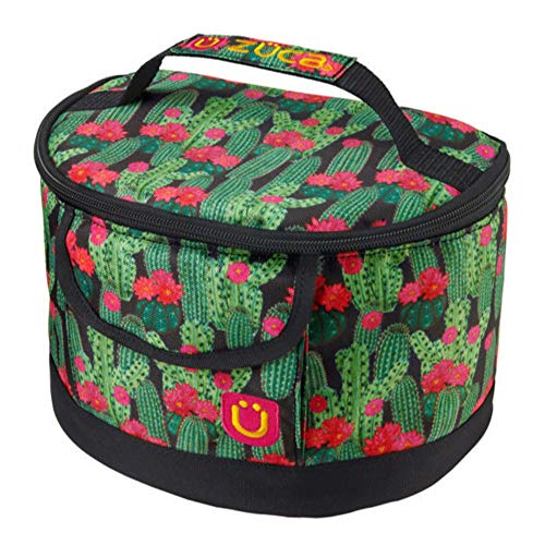 Zuca Lunchbox (Choose Your Style): Vinyl Liner for Easy Cleaning | For Kids or Adults | BPA Free | Secures to Handle of Any Rolling Bag (Desert Blossoms)