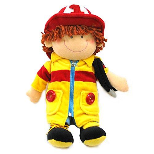 Russ Ladders the Firefighter Dress Me Plush Doll